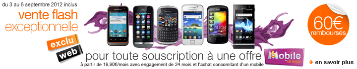 M6 Mobile organise une vente flash du 3 au 6 septembre